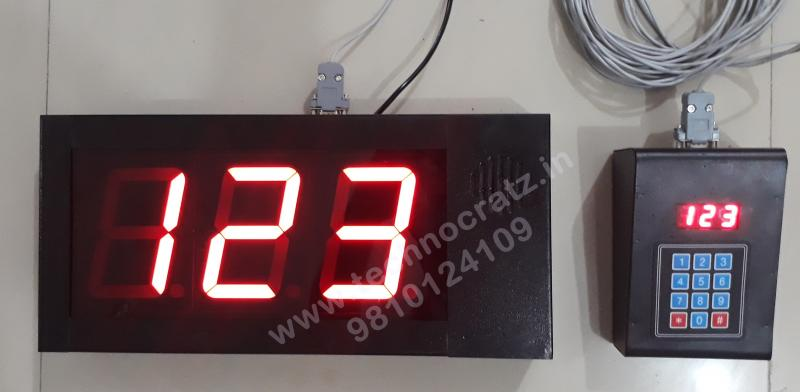 LED Token Display, LED Q management system, LED token number display FND