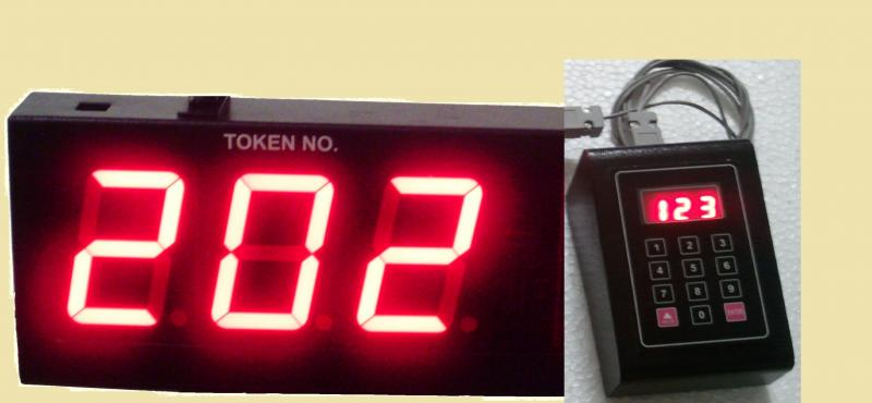 LED token display, LED token dispenser, LED queue management displays