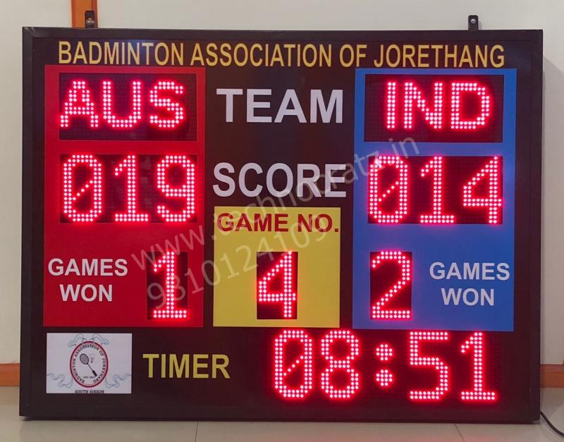 LED Scoreboards for all sports. Manufacturer New Delhi, India. Mumbai Hyderabad
