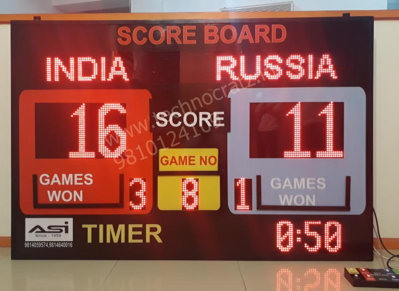 LED Scoreboards for all sports. Manufacturer New Delhi, India. Chennai, Jaipur