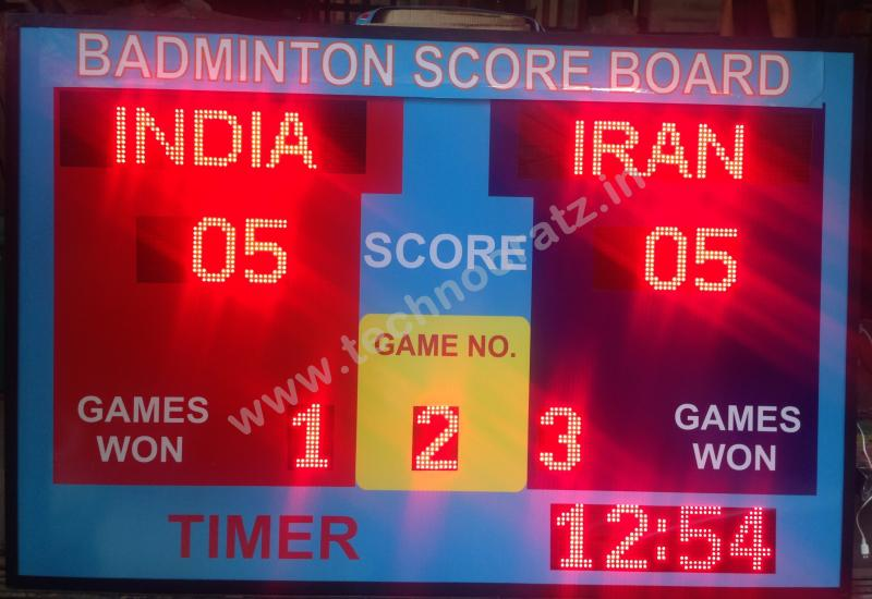 LED Badminton scoreboards, Badminton scoreboard manufacturer New Delhi, India