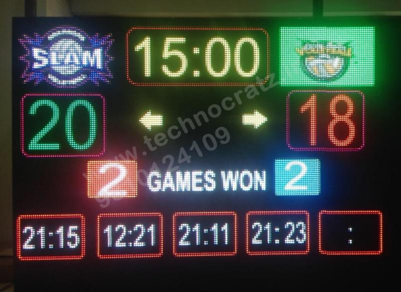 LED Badminton scoreboards manufacturer New Delhi, India. LED Scoreboards Meerut