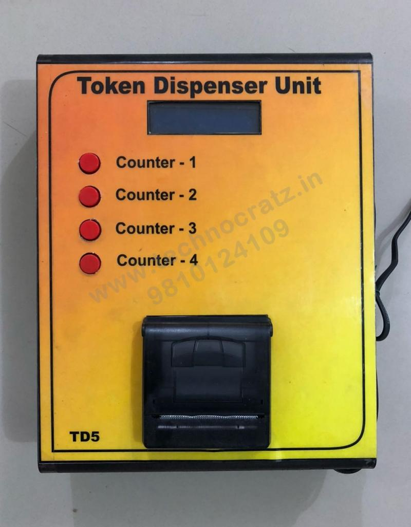 LED token number dispenser for LED token display, LED token dispenser New Delhi