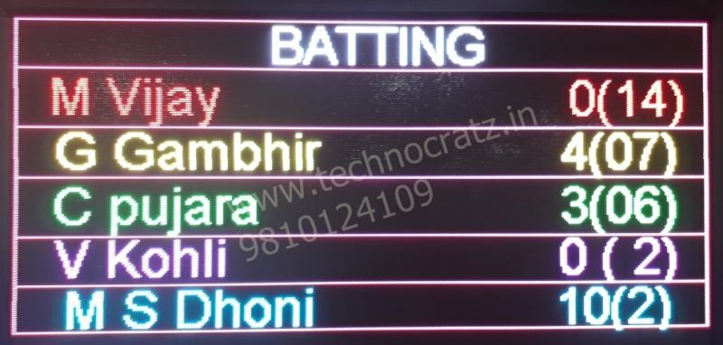 LED Cricket scoreboards manufacturer New Delhi, India. LED scoreboards in meerut