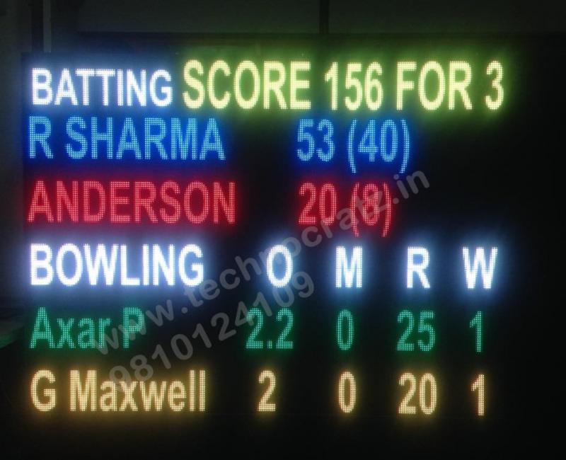 LED Cricket scoreboards manufacturer New Delhi, India. LED scoreboards in Delhi