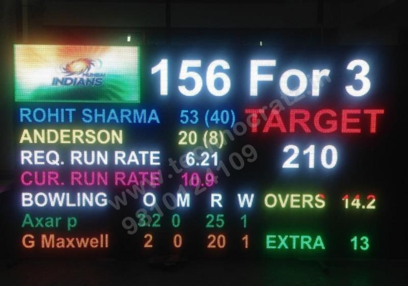 LED Cricket scoreboards manufacturer New Delhi, India. LED scoreboards Chennai