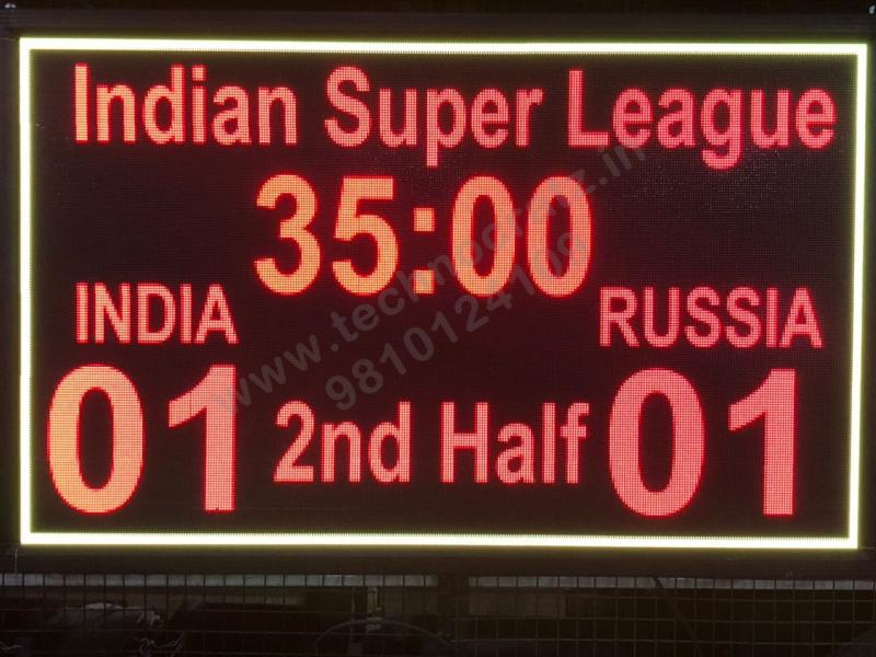 LED Hockey Scoreboard manufacturer New Delhi, India. LED Football scoreboards