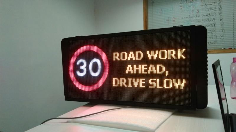 LED VMS signs, LED highway displays, LED toll plaza displays