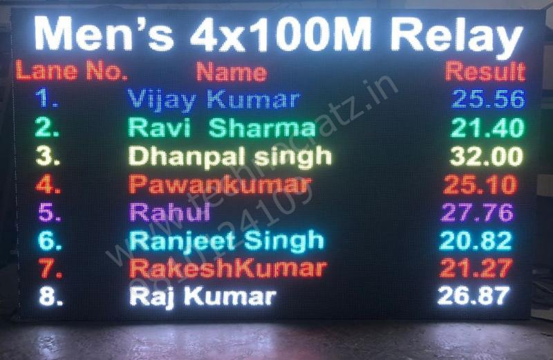 LED Scoreboards for Athletics New Delhi, India. Track and field scoreboards