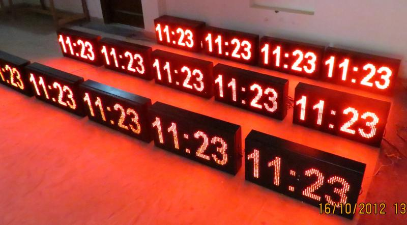 led clock , master slave clocks