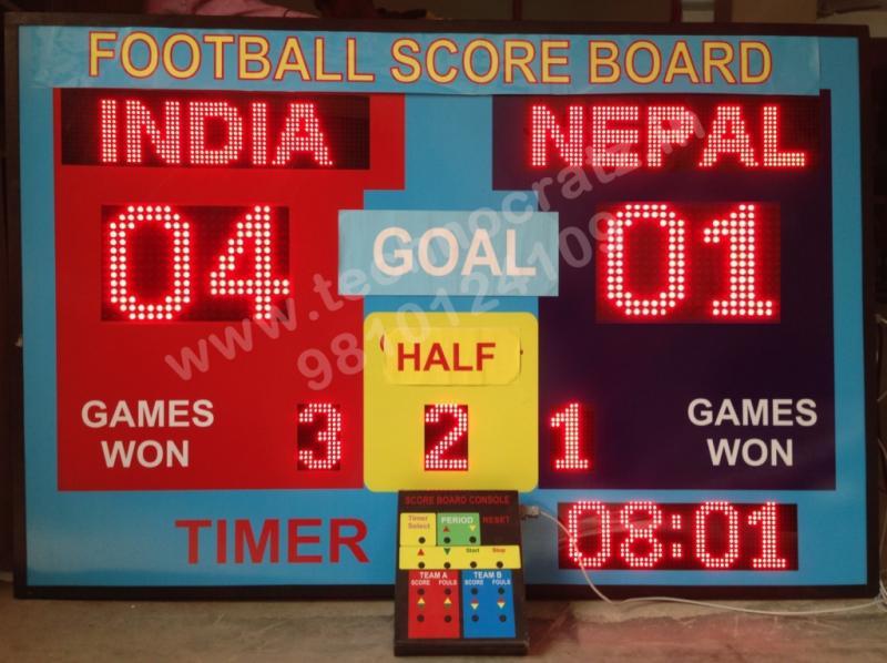 LED Hockey Scoreboard manufacturer New Delhi, India. LED scoreboards Chandigarh