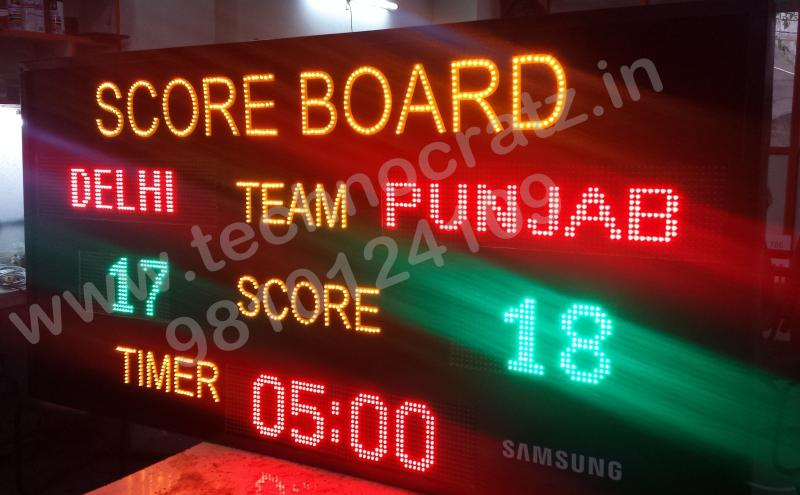LED Multi sports scoreboards, LED scoreboard manufacturer New Delhi, India