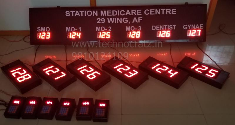LED Token Display, LED Q management system, LED token number display Delhi,India
