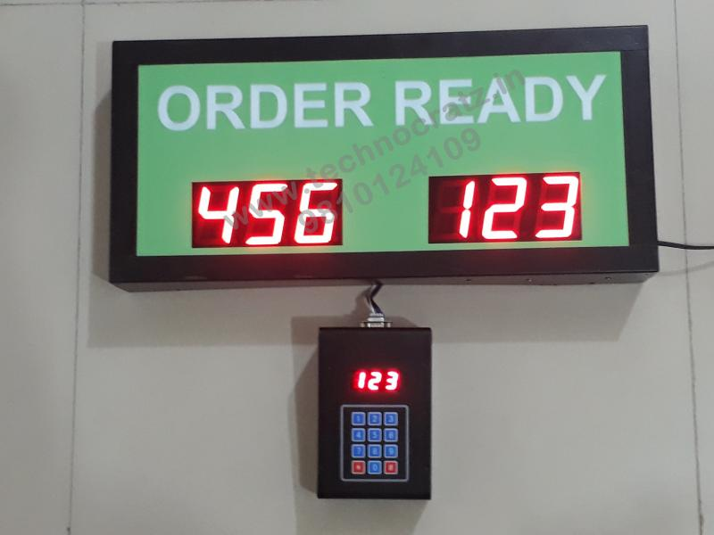 LED Token Display, LED token number display with 3 digit 2 sets. New Delhi India