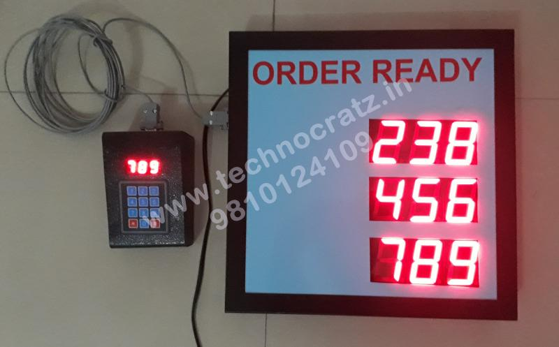 LED Token Display, LED token number display with 3 digit 4 sets. New Delhi India
