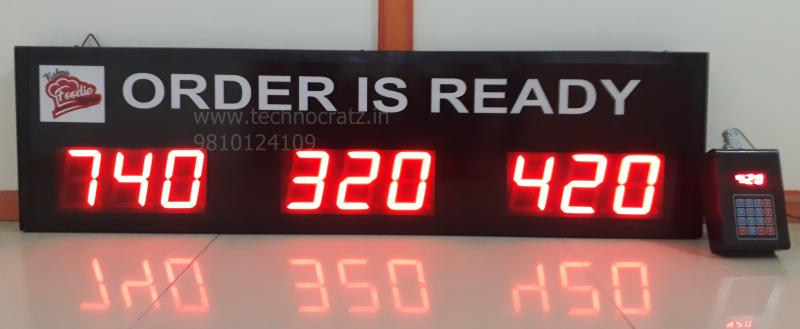 LED Token Display, LED token number display with 3 digit 3 sets. New Delhi India