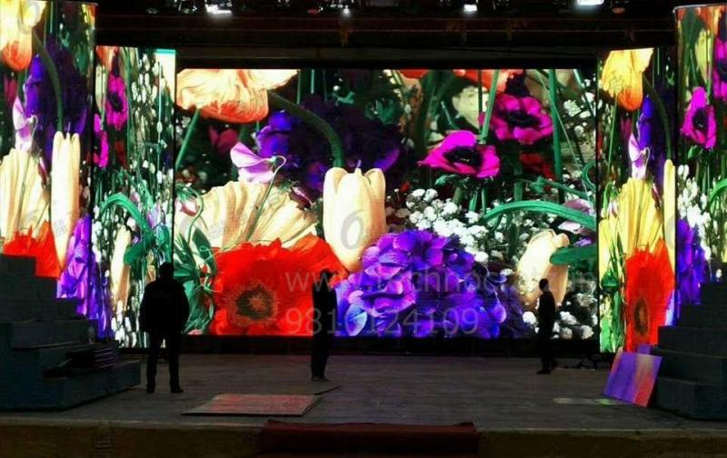 LED Video wall indoor, LED video wall for rental, LED P3.91 video wall New Delhi