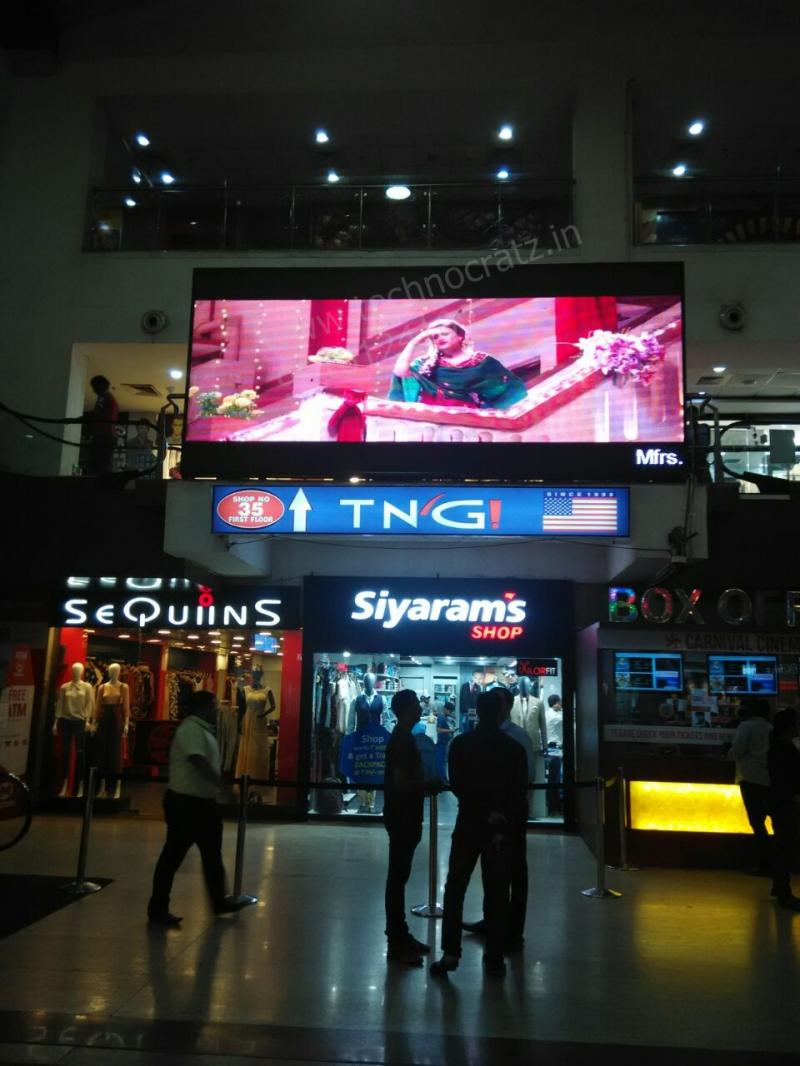 LED Video wall indoor, LED video wall for rental, LED P7.62 video wall New Delhi