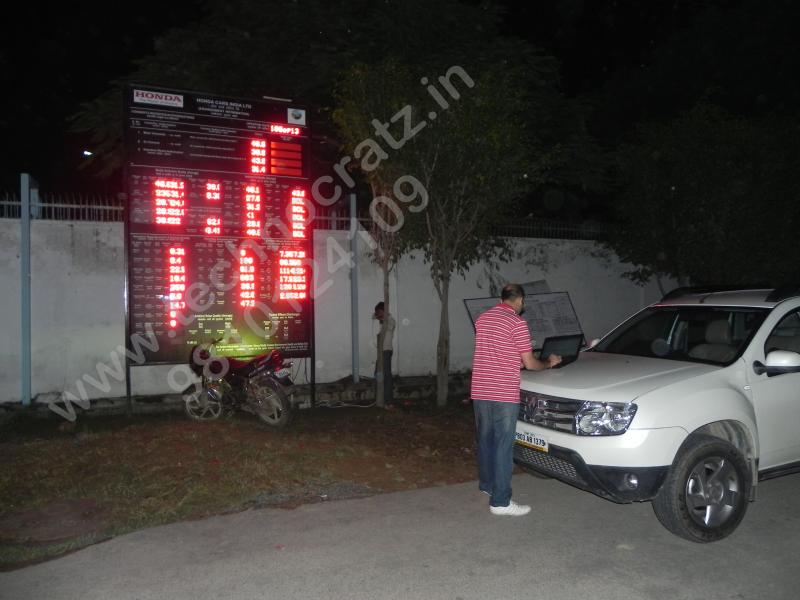 LED Industrial, pollution, environment, andon, safety, message data displays