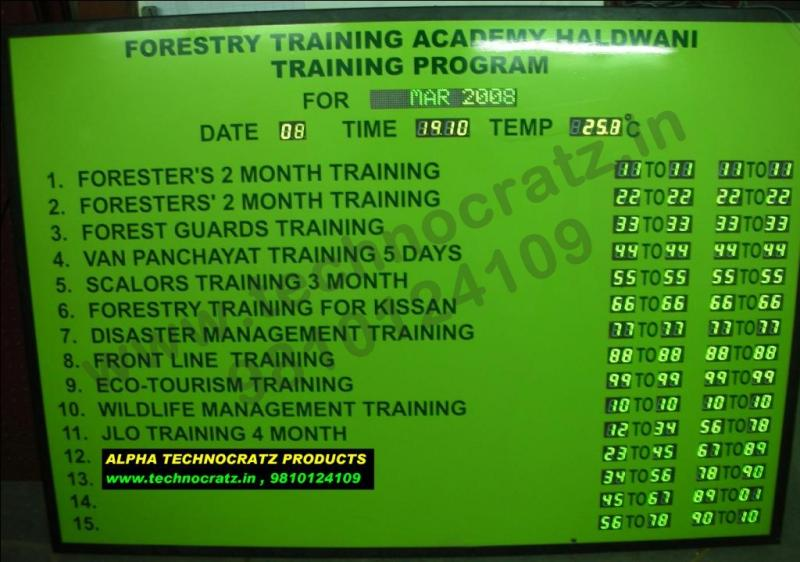 LED schedule display, LED program display, LED data display, New Delhi, India