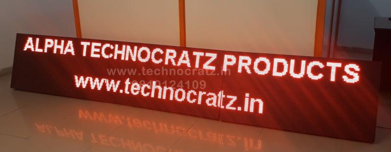 LED tickers, LED scrolling display manufacturer New Delhi India. Guwahati Ranchi