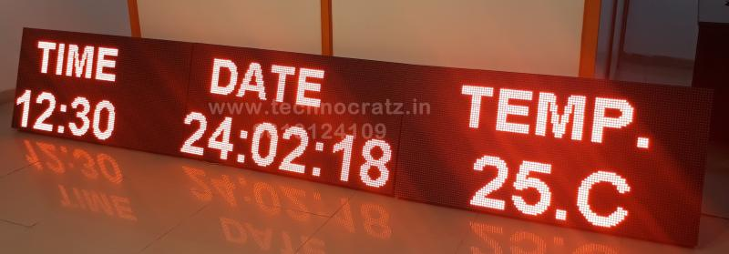 LED Clock, LED Time and Temperature display, FND clock, LED Humidity display