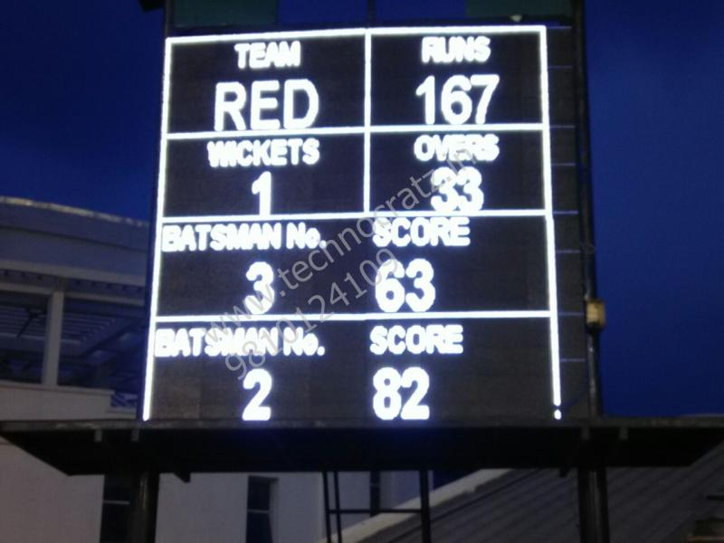 LED Cricket scoreboards manufacturer New Delhi, India. LED scoreboards Hyderabad