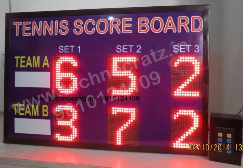 LED Tennis Scoreboards manufacturer New Delhi, India. LED scoreboards for Tennis