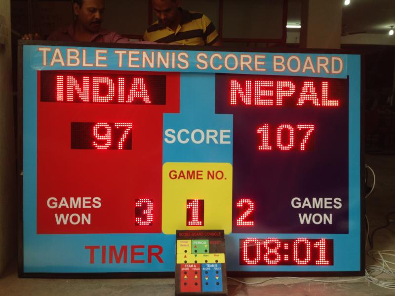 LED Table tennis scoreboards, Table tennis scoreboard manufacturer Delhi, Indi