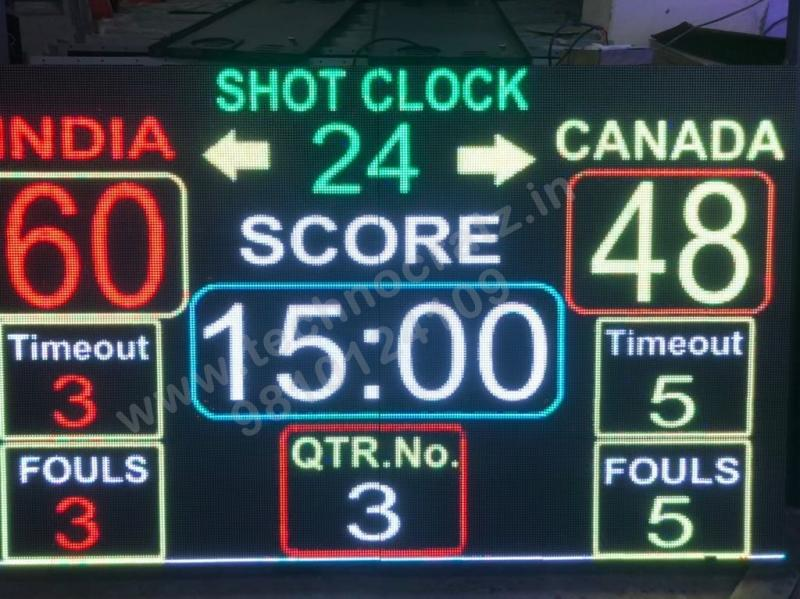 LED Basketball scoreboards, LED scoreboards manufacturer New Delhi India. Mumbai