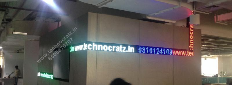 LED tickers for office receptions, conference hall, call centres, LED ticker