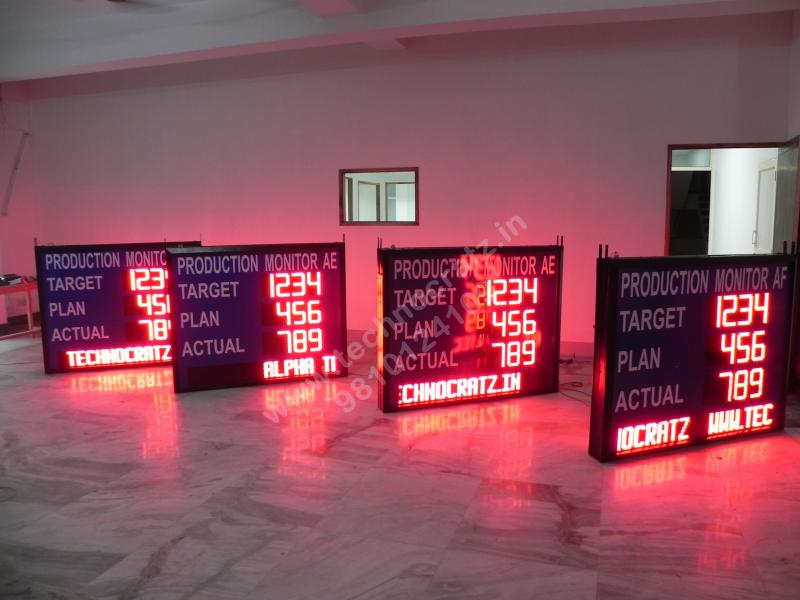 LED Industrial production data display, LED andon boards manufactured in India