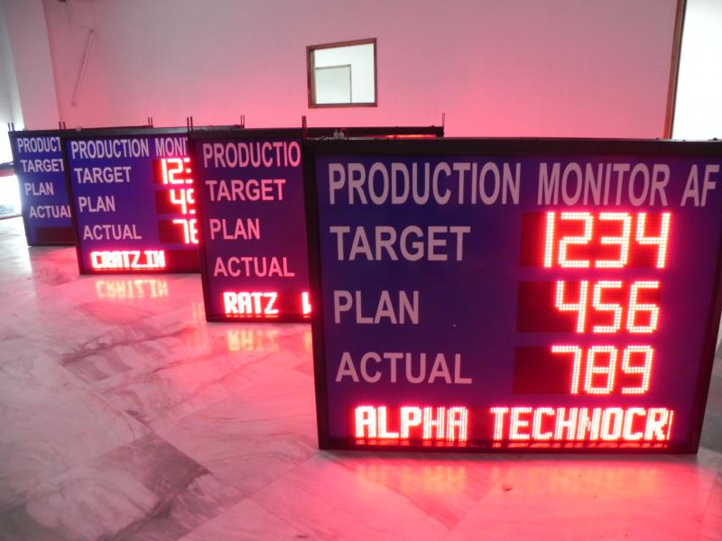 LED andon boards, LED Industrial data display, LED industrial safety display