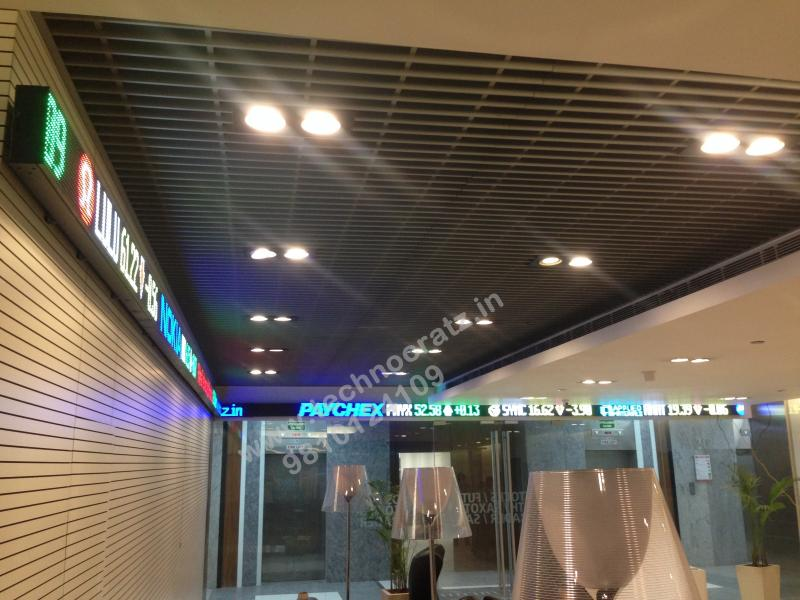 LED Tickers for use in reception, lobby, entrance or canteens