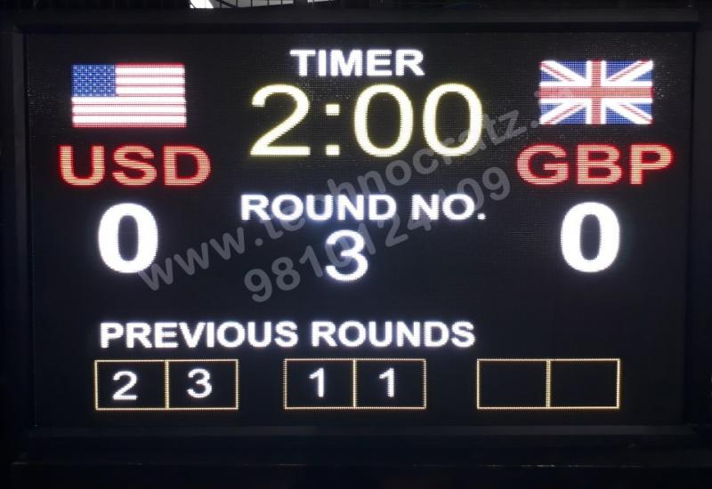 LED Wrestling scoreboards, LED scoreboards manufacturer in New Delhi, India