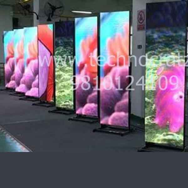 led standee video wall